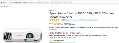 Epson 3d projector + three 3d glasses + HDMI cable