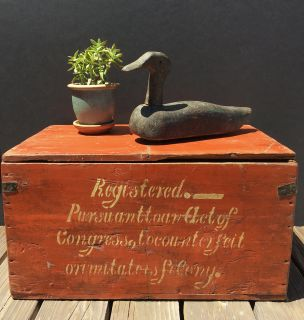 Antique gin bottle crate from Holland, c1920