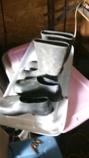 Size 12 boots and size 12x slip on boot covers