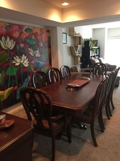 Beautiful dining room table for 8
