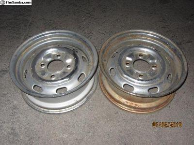 four lug bug chromed wheels J46-48