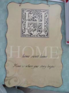 METAL 'HOME SWEET HOME HOME IS WHERE YOUR STORY BEGINS'' WALL HANGING
