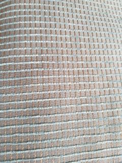 Teal and tan grommet panel pair curtains, 50x84