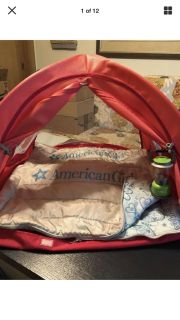 American Girl Camping for Two Bundle (12 items, All AG Brand)