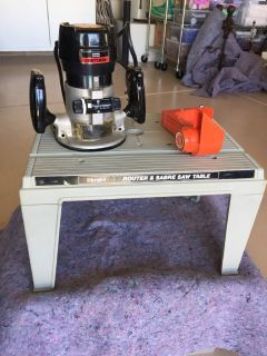 Sears Craftsman Router, guides & table