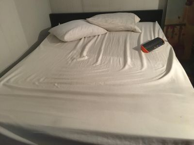 Tuft and needle queen mattress with ikea frame