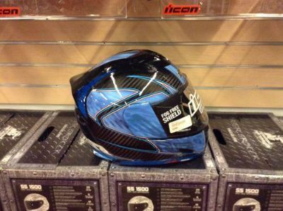 Sell ICON Airframe Carbon RR Helmet Blue Large NEW motorcycle in Swansea, Massachusetts, US, for US $449.00