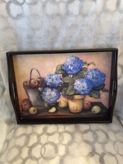 Gorgeous wood painted serving platter