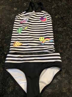 NWOT Justice 2 piece tankini. SF. Size 8. $4