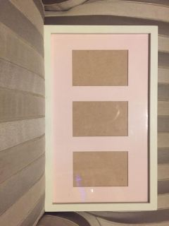 Cream and pink picture frame