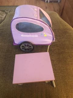 My American Girl Doll's Pet Trailer Bike or Hand Pull Carrier Wagon - retired