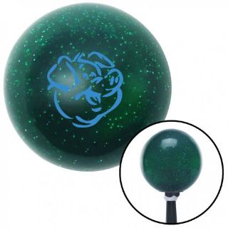 Buy Blue Pig Green Metal Flake Shift Knob with 16mm x 1.5 insert racing 911 parts motorcycle in Portland, Oregon, United States, for US $29.97