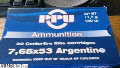 For Sale: 10 Boxes of 7.65 argentine ammo Prvi Partizan