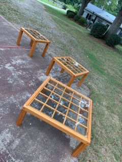 Oak and Glass tables