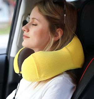 Travel Pillow Memory Foam with 360-Degree Head Support