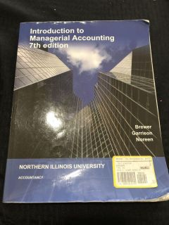 Introduction to Managerial Accounting 7th edition