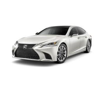 2019 Lexus LS (white)