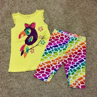 Jumping beans size 6 girls top/pant