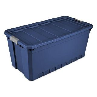 Sterilite 50 Gal./189 L Stacker Tote, Stadium Blue, Available in Case of 3
