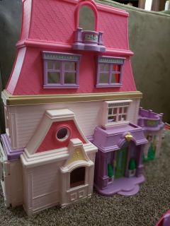 Fischer Price Loving Family Doll House and Cars/camper