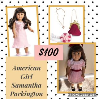 American Girl Doll Samantha and Extras