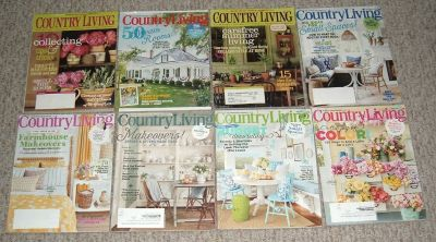 Country Living Magazine Lot of 8 (2 2008 2 2016 4 2017)
