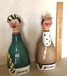 """Set of TWO Decanters """"How Dry I Am"""" Music"""