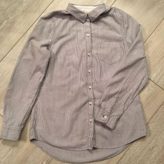 OLD NAVY Women's black striped button-up career shirt - Small