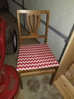 Antique folding chair with refinished seat