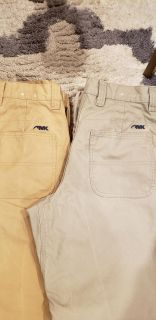 Pair of Mountain Khaki Mens Pants. Size 30 x 32 L. In Freestone and Firma Color. Price is for Both. EUC.