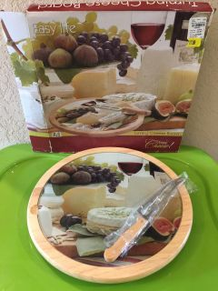 Brand New in the Box - Home Essentials Lazy Susan Cheese Board with Knife