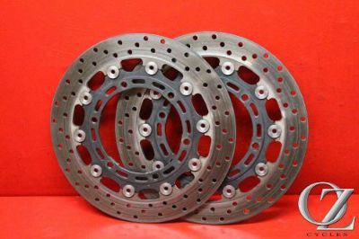 Find S 01 02 YAMAHA YZF-R6 R6 FRONT BRAKE ROTORS OEM PAIR OF DISCS STRAIGHT OEM motorcycle in Ormond Beach, Florida, United States, for US $29.90
