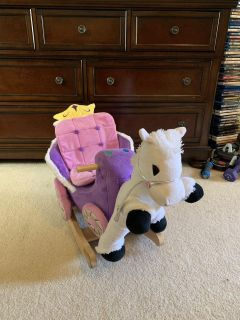 Princess carriage toy rocking horse. GUC. Germantown ppu. Xposted.