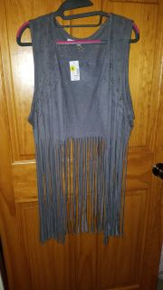 NWT Maurice's faux suede vest