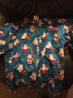 Holiday scrub jacket