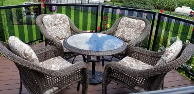 outdoor patio furniture - wicker