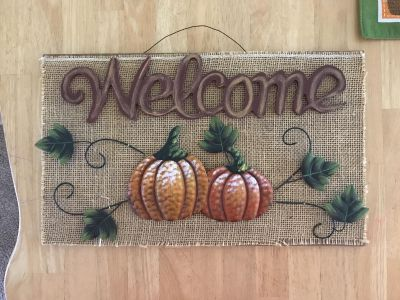 Welcome sign from Hobby Lobby