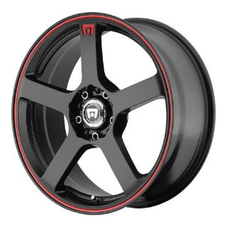 """Purchase 5 Lug 114.3 4.5 112 17"""" Inch Black Red Wheels 17x7 +40mm Set of 4 Rims motorcycle in Rancho Cucamonga, California, United States, for US $554.40"""