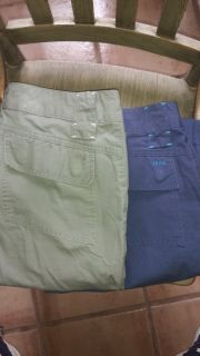 Two pair Izod size 12 cotton pants