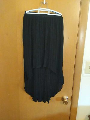 Balera Pleated High Low Skirt with Built in Briefs