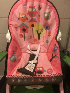 Fisher Price infant girls bouncer seat