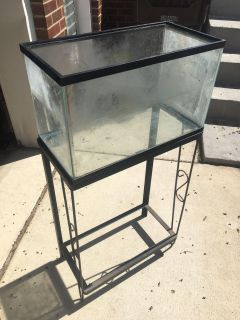 10 gal tank w cast iron stand-$5 for both