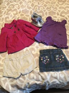 Girls clothes, coat and boots
