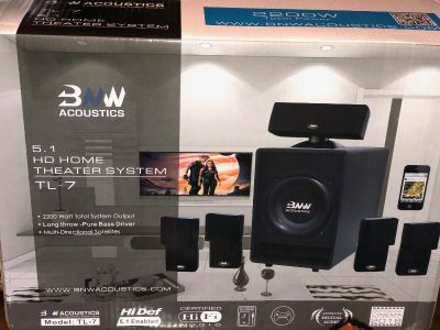 BNW Acoustics 5.1 HD Home Theater System