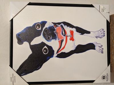 Painting of Boston Terrier Dog