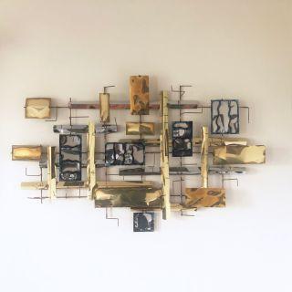 Vintage Modern Sculptural Metal Wall Art
