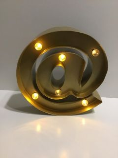 Metal @ light up marquee sign *battery operated-batteries not included* comes with spare bulb X2