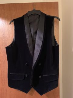 Velvet and quilted satin vest