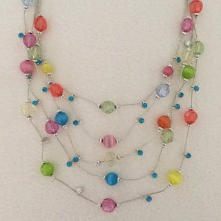 Multi-Colored Necklace and Earring Set