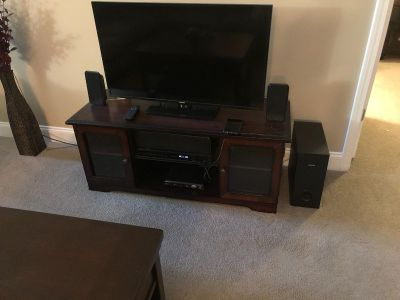Coffee table, TV and stand